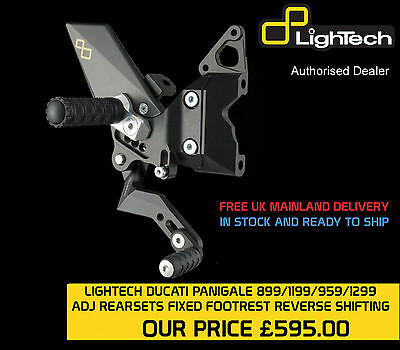 Lightech Ducati Panigale 899/1199/959/1299 Rearsets Fixed Footpegs (Reverse Shif