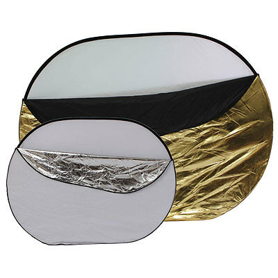 """60x80"""" 5-in-1 Collapsible OVAL Reflector 150 X 200 cm"""