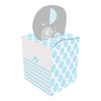 Baby Shower Boy 'Little Peanut' Elephant - 8 x Small Favor Gift Boxes