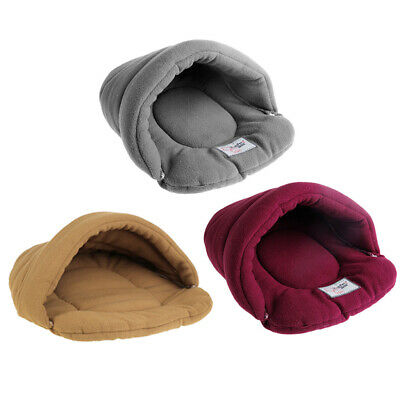 Pet Dog Puppy Cat Nest Bed Soft Warm Cave House Winter Sleeping Bag Mat Pad