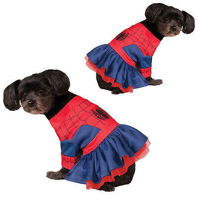 Rubies Official Licensed SpiderGirl Dog Fancy Dress Costume Superhero Pet Outfit