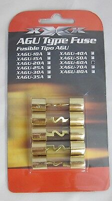 5er Set Sicherungen 60 A vergoldet 10x38 mm 60 Ampere Car-Hifi