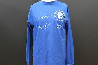 Rangers 1972 Hand Signed European Cup Winners Football Shirt