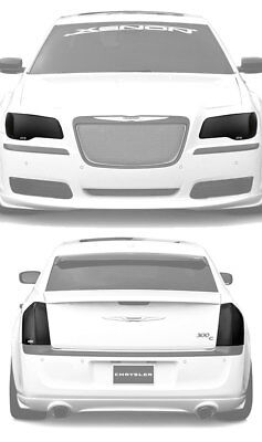 11-14 Chrysler 300 GTS Smoke Acrylic Headlight Taillight Covers Protection 4pc