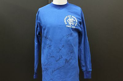 Rangers 1972 European Cup Hand Signed Football Shirt