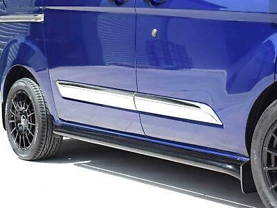 Chrome Stainless Steel Side Streamer Moulding Cover 5pc Set Ford Tourneo Custom