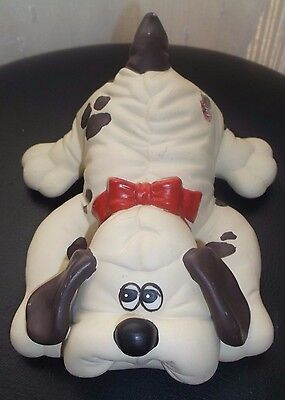 Set 2 Vintage Pound Puppies PUPPY Ceramic Figurine TONKA 1985 1986 United Silver