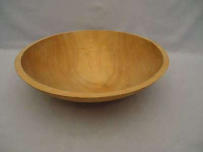 """Vintage Wood Wooden Dough Bowl 12"""" Diameter Made In Vermont Usa Maple"""