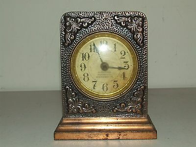 Antique Working 1908 Cast Iron Victorian Wind-up Alarm Clock - Staples & Co. VT.