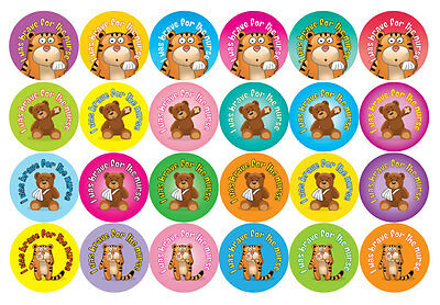 144 x 'I was brave for the nurse' Stickers - 30mm - doctors, nurses, dentists