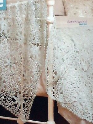 CROCHET PATTERN lace floral cover throw blanket afghan bedspread experienced 170