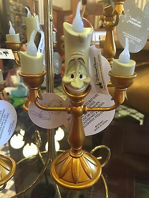 "Disney Parks LUMIERE  Beauty & the Beast LIGHT-UP Candlestick Ornament 5"" inches"