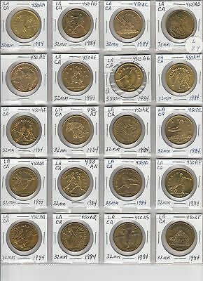 LOT OF 20 DIFFERENT VINTAGE TRANSIT TOKENS  L24 as shown