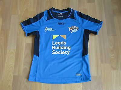ISC LEEDS Rhinos Building Society RUGBY League Shirt CHILD Age 12