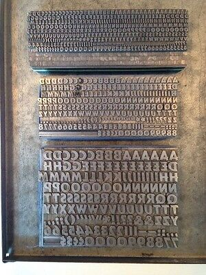 Lot of Letterpress Type - Cartoon Bold - 12, 18, and 30 Point - Printing