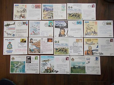JOB LOT OF 14 FLOWN COMMEMORATIVE EVENT STAMP COVERS FROM THE 1970's