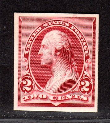 $US Sc#219dP4 Mint/VF, Lake, Plate Proof on card, Cv. $165