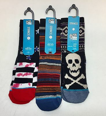 3 Pairs Of Stance SOCKS For Boys(fit Women Size 5-6.5)