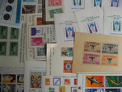 LATIN AMERICA 17 MNH/MH souvenir sheets, mixed condition, check them out!