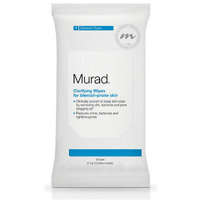 BNIP_Murad Clarifying 30 wipes_Cleansing_for Blemish Prone skin_Clears pores