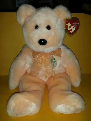 Ty Beanie Buddies Dearest Bear Large 14 Inch Plush Stuffed Animal 2001