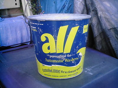 1940's....HUGE ALL DETERGENT CAN & LID......