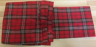True Vintage Red Tartan Trousers 1970s Punk Era W32 L29