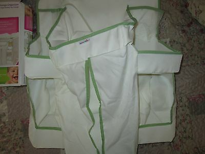 Crib changing table diaper stacker green and white by Munchkin