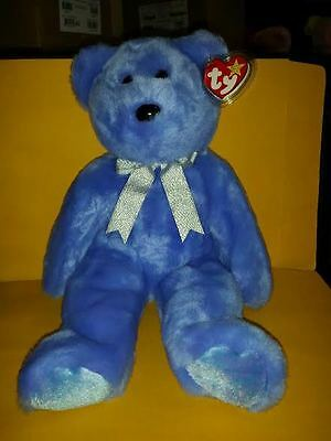 Ty Beanie Buddies Clubby Ii Bear Large 14 Inch Plush Stuffed Animal 1999