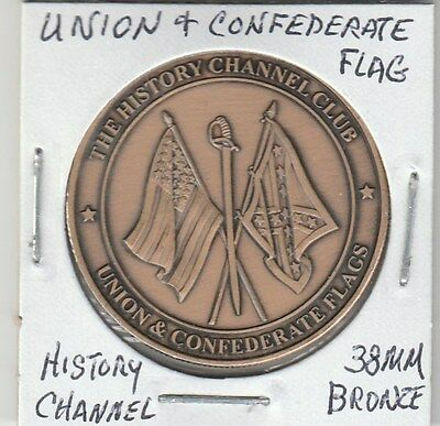 LAM(B) SCD - History Channel - Union & Confederate Flags - 38 MM Bronze