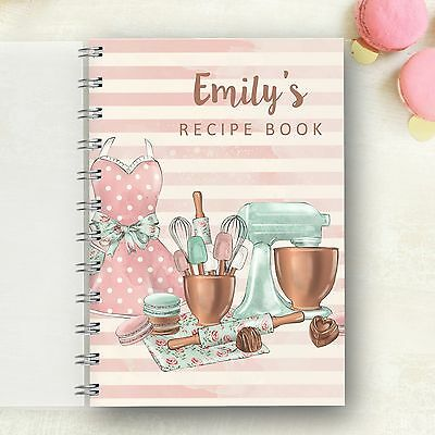 Personalised Recipe Vintage Mixer Notebook Menu Journal Foodie Cooks Lovely Gift