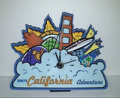Disney California Adventure Theme Park Souvenir Desk Clock Table Top Clock