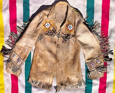 Old Northern Plains Cree / Metis Indian Beaded Fringed Jacket