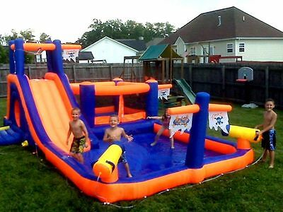 Inflatable Water Slide Park Wet Dry Backyard Commercial Grade Bounce House Pool