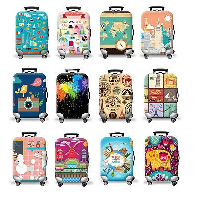 Elastic Unique Suitcase Protector Travel Luggage Box Cover Dust-proof 12 Colors
