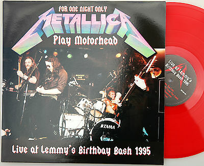 METALLICA ‎Live at LEMMY'S BIRTHDAY BASH 1995 LP Red Vinyl 100cp Limited Ed NEW