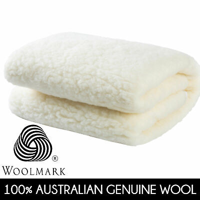 DREAMAKER Fully Fitted Australian Wool Underlay Mattress Under blanket Topper