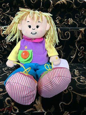 Language Littles Teach-A-Tot Toddler Girl Doll 18 Mo & Up Learn Skills Battery