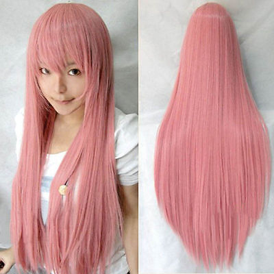 Fashion girl Cosplay Party Long Natural Straight Anime Wigs Full Hair Wig