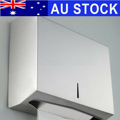Stainless Steel Compact Hand Paper Towel Dispenser For Holder Toilet Washroom AU