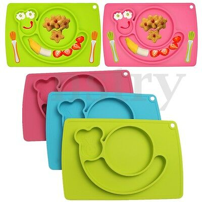 Snail Silicone Baby Kids Silicone Placemat Feeding Food Tray Plate Table Mat Pad
