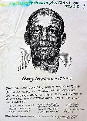 Gary Graham Arrested At 17, Civil Rights Worker,claimed Innocence - Executed Tx