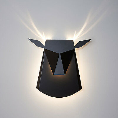 Deer Light Black LED Wall Light
