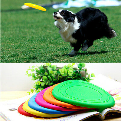 Soft Silicone Light Rubber Pet Dog Puppy Beach Frisbee Frisby Throw Exercise Toy