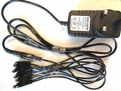 9V 2000mA  POWER SUPPLY ADAPTER & 5 WAY DAISY CHAIN CABLE FOR MOOER PEDALS