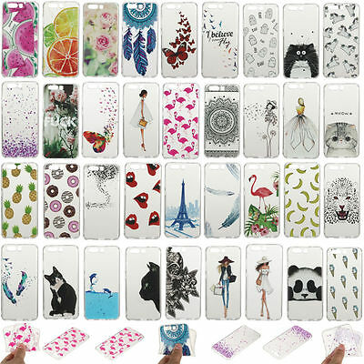 Fashion Slim Clear Soft Silicone TPU Rubber Gel Back Case Cover For Huawei Phone