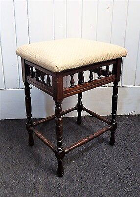 Antique vintage piano stool / dressing table stool