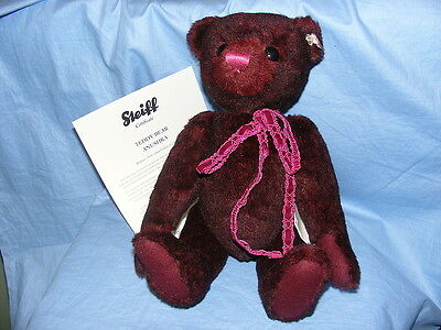 Steiff Teddy Bear Anushka - Bordeaux - EAN 034800 Limited Edition