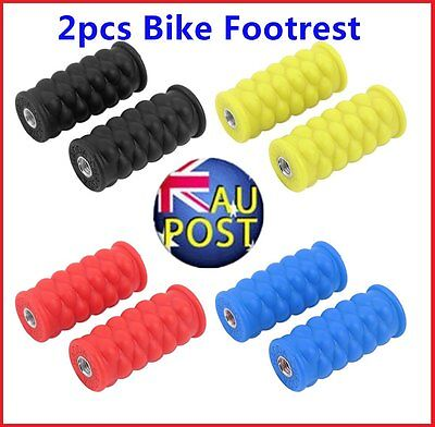 Bright Color Resin Footrest Foot Pegs Rest Pedal for Passengers Bike Pedal F GT