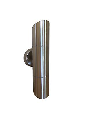 GU10 stainless steel Up-Down Angled Ended  outdoor wall light. LED compatible